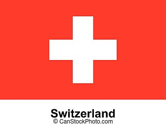Vector image of flag Switzerland