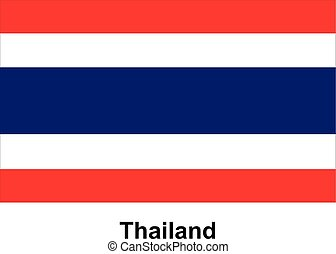 Vector image of flag Thailand