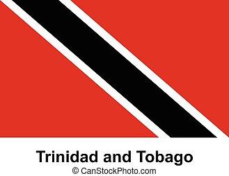 Trinidad and Tobago - Vector image of flag Trinidad and...