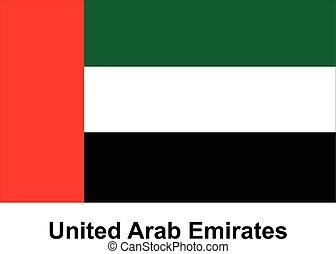 United Arab Emirates - Vector image of flag United Arab...