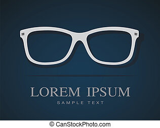 Vector image of Glasses