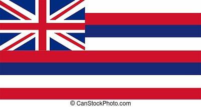Vector image of Hawaii State flag. Ka Hae Hawaii. Proportion1 2. EPS10.