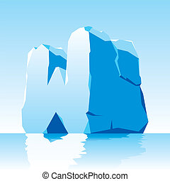vector image of ice letter W