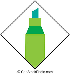 Vector image of marker