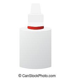 Vector image of medical bottles
