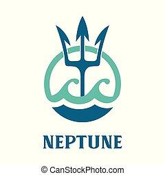Vector image of Neptune's Trident