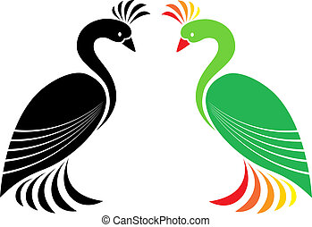 Vector image of peacock