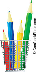 Vector image of pencils