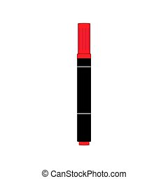 Vector Image of Red Marker on a White Background.