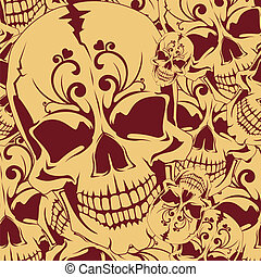 Seamless background with skull.