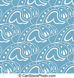 Vector image of seamless pattern with waves