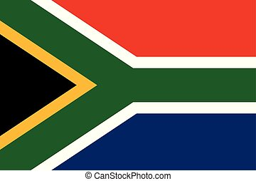 Vector Image of South Africa Flag