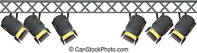 vector image of spotlights on a white background
