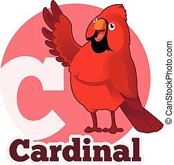 ABC Cartoon Cardinal - Vector image of the ABC Cartoon ...