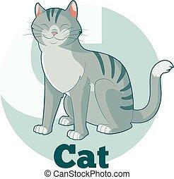 ABC Cartoon Cat
