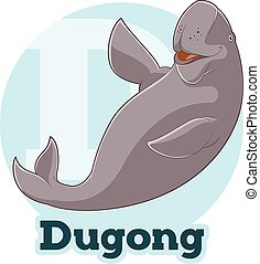 ABC Cartoon Dugong - Vector image of the ABC Cartoon Dugong