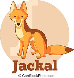 ABC Cartoon Jackal - Vector image of the ABC Cartoon Jackal