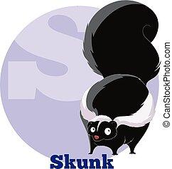 ABC Cartoon Skunk