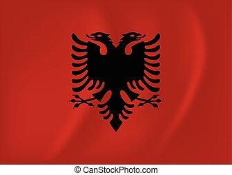 Albania waving flag