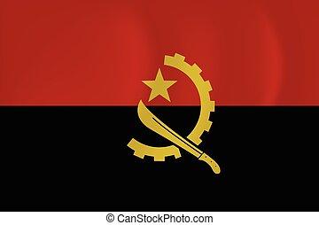 Angola waving flag