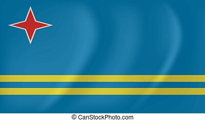 Aruba waving flag