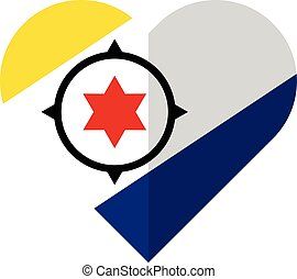 Bonaire flat heart flag
