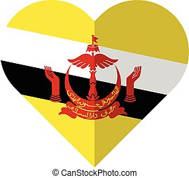 Brunei flat heart flag