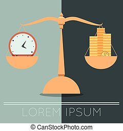 Business concept about time and money