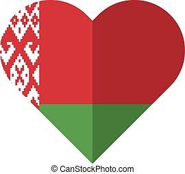 Byelorussia flat heart flag