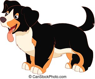 Cartoon happy dog