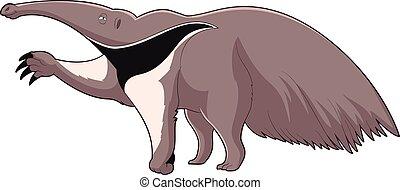 Cartoon smiling Anteater