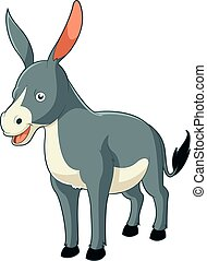 Cartoon smiling donkey