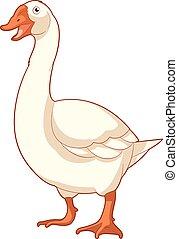 Cartoon smiling Goose