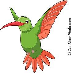 Cartoon smiling Hummingbird