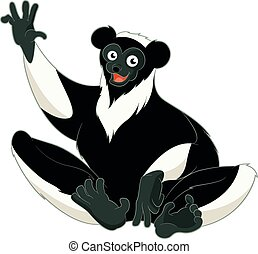 Cartoon smiling Indri