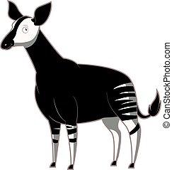 Cartoon smiling Okapi