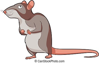 Cartoon smiling Rat