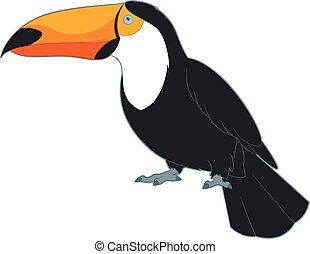 Cartoon Smiling Toucan
