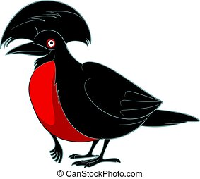 Cartoon smiling umbrellabird
