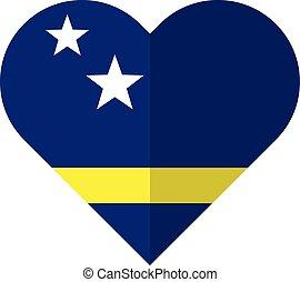 Curacao flat heart flag
