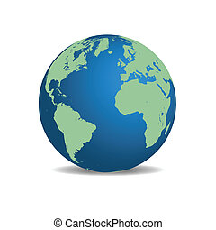 Vector image of the earth