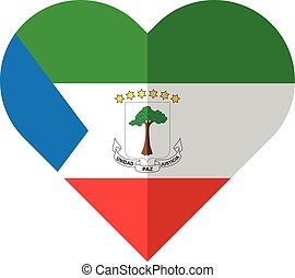 Equatorial Guinea heart flag - Vector image of the...