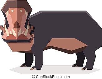 Flat geometric Hippopotamus