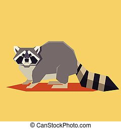 Flat geometric Raccoon