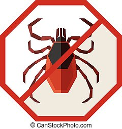Flat geometric sign with Tick - Vector image of the Flat...