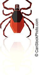 Flat geometric Tick - Vector image of the Flat geometric...