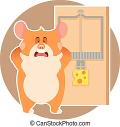 Hamster and a mousetrap