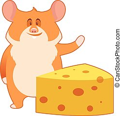 Hamster and a Piece of Cheese
