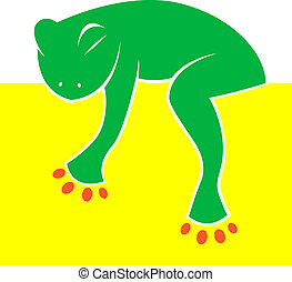 Vector image of the frog