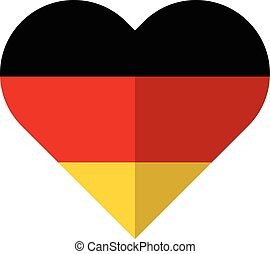 Germany flat heart flag